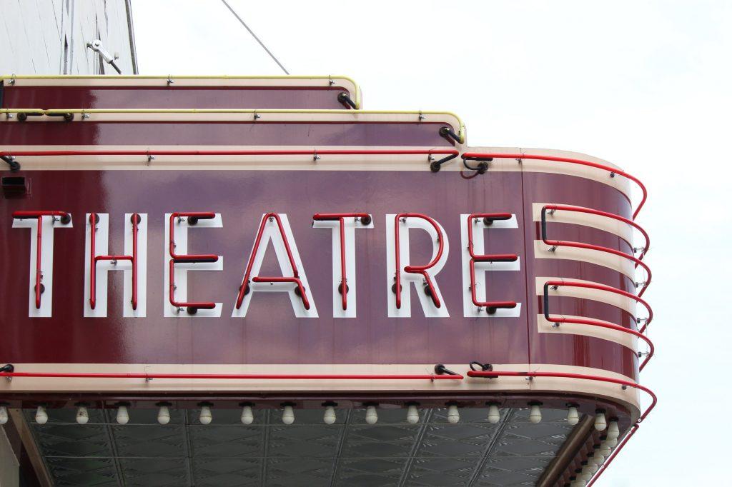 Vintage theatre marquee